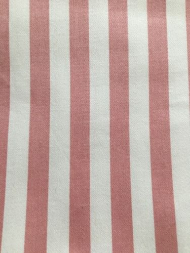 VTG Pink Stripe Fabric WAVERLY SCHUMACHER USA Boxer Collection 56