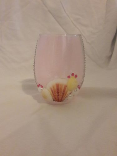 Seashell wedding tea light table top centerpiece candle holder