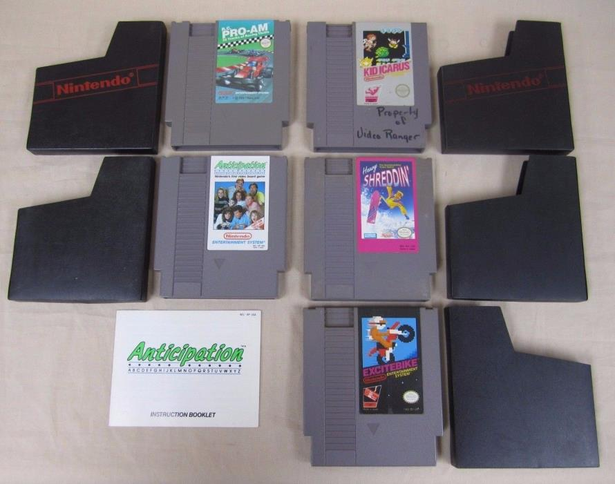 (Lot of 5) Excitebike, Kid icarus, R.C. Pro-Am & More (Nintendo NES) Cartridges