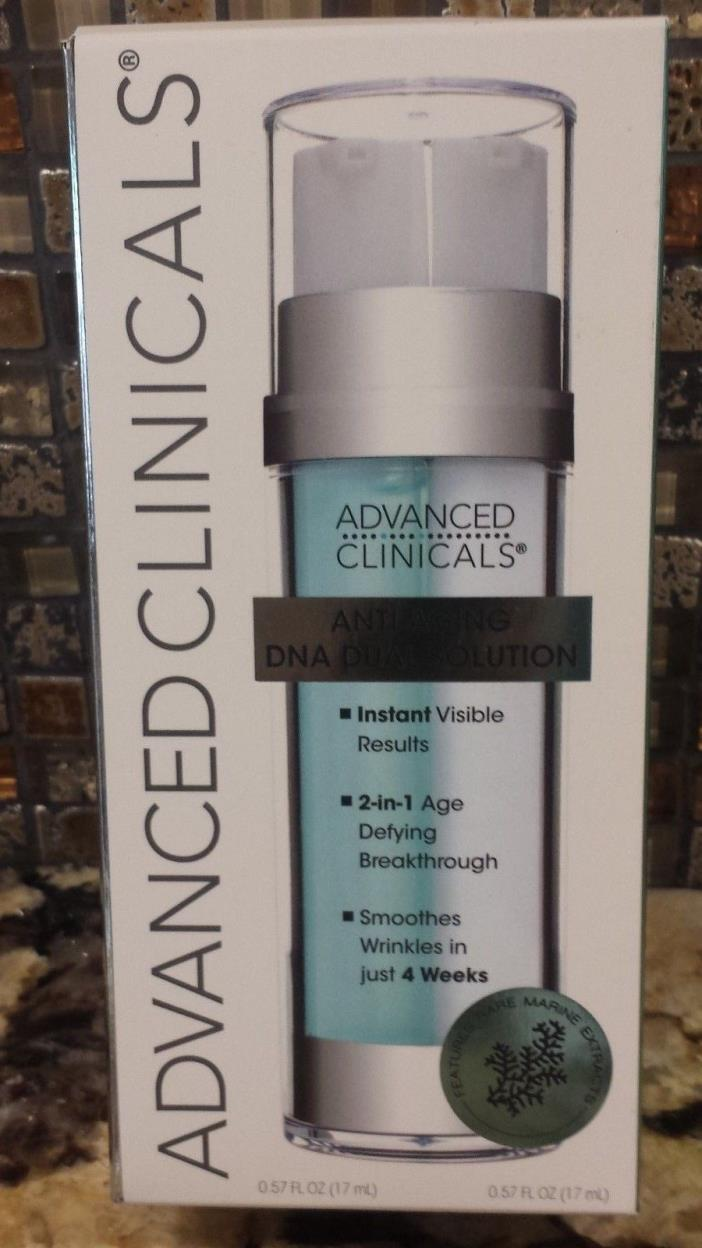 Advanced Clinicals Anti-Aging Dual Solution, 0.57 FL OZ  New in Box