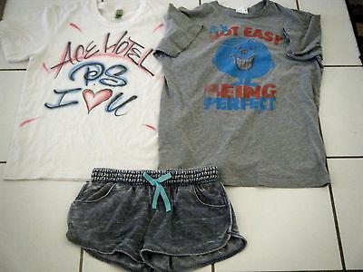 Lot 3 Junk Food & Alternative Earth Womens t-shirts M & Hang Ten Shorts L