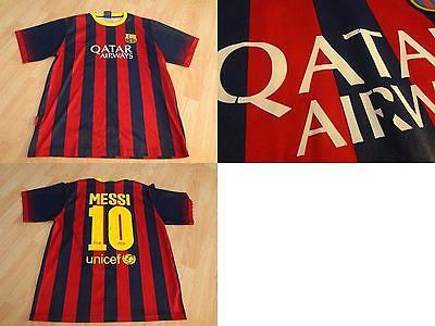 Men's FC Barcelona Lionel Messi L Soccer Futbol Jersey