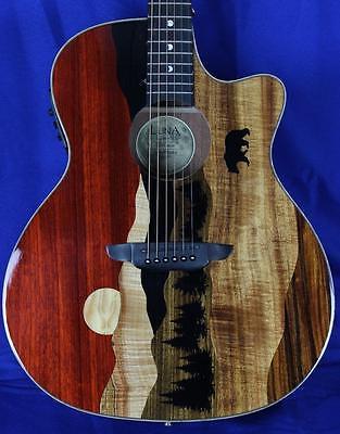 New! Luna Vista Bear Tropical Woods Acoustic Electric Guitar w/ OHSC