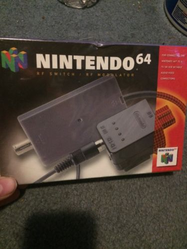Nintendo 64 N64: Official RF Switch Modulator [NEW & FACTORY SEALED]