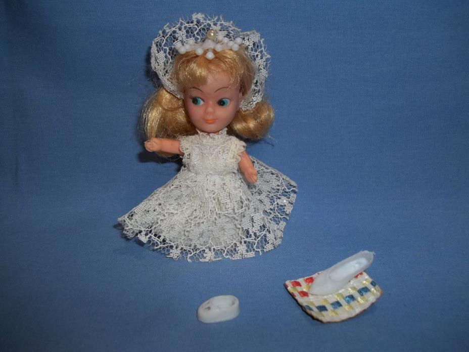 Vintage Story Time My-Toy  Cinderella Doll 1968 Rare Slipper 1960's Hong Kong