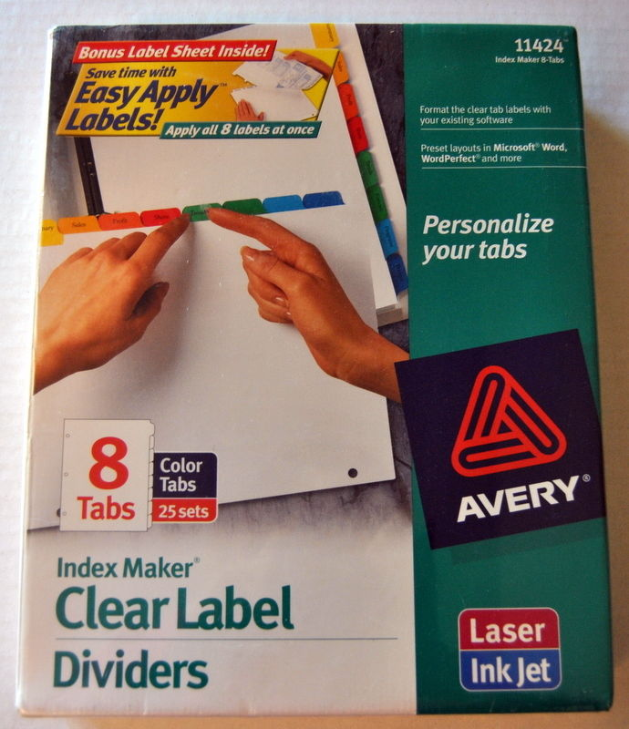Avery Consumer Products 11424 Index Maker- Laser-Inkjet- 8 Tab- 25 Sets