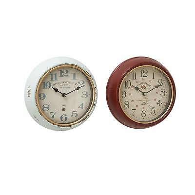 Captivating Metal Wall Clock 2 Assorted