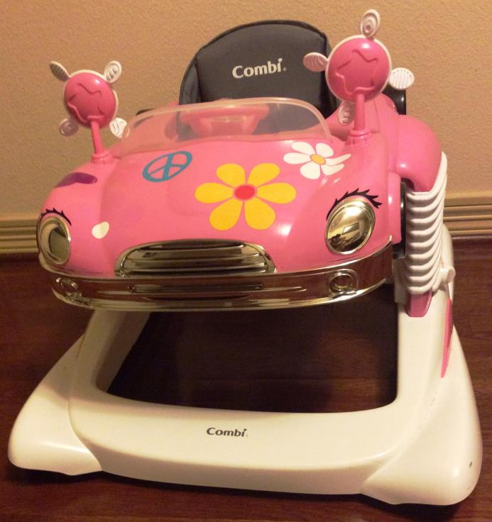 Combi All-in-One Baby Activity Walker Car Mobile Entertainer Jumper Used Pink