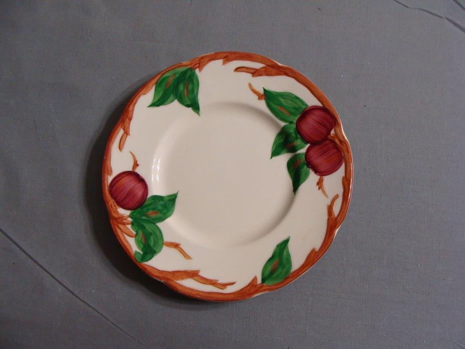 1 Franciscan Bread Plate In The Apple Pattern, Made In California, USA