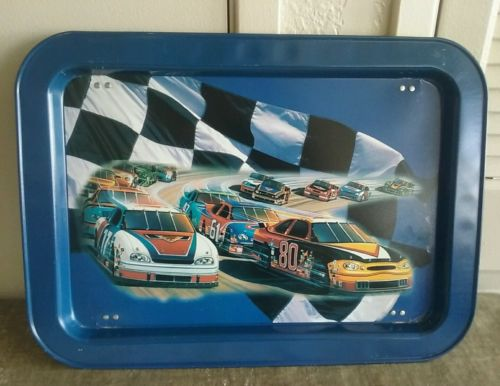 Nascar Racing Stock Car Race Collectible Tin TV Tray