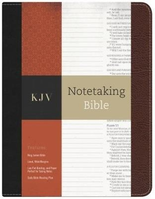 Notetaking Bible-KJV by Bonded Leather Book (English)