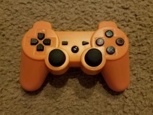 orange dualshock 3 wireless controller - ps3