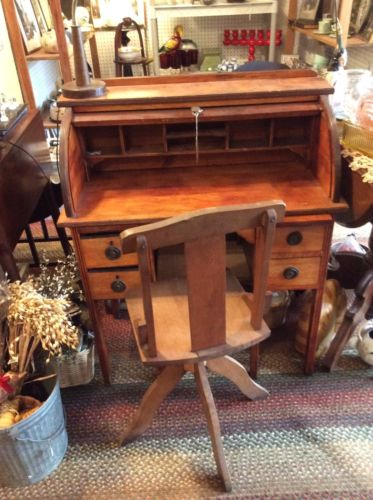 antique childs roll top desk