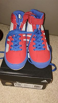 adidas wrestling shoes HVC K AQ3326 Blue/Red/White available size US13K