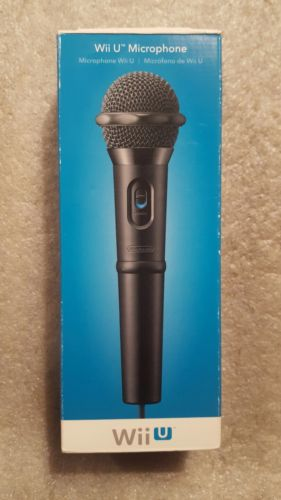 NEW in box Wii U Microphone  USB - also works with PS3 PS4 Xbox 360 and Xbox One