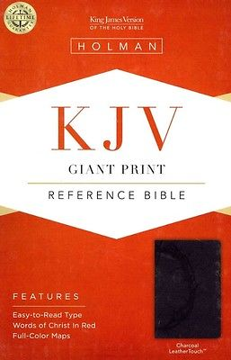 Giant Print Reference Bible-KJV by Imitation Leather Book (English)