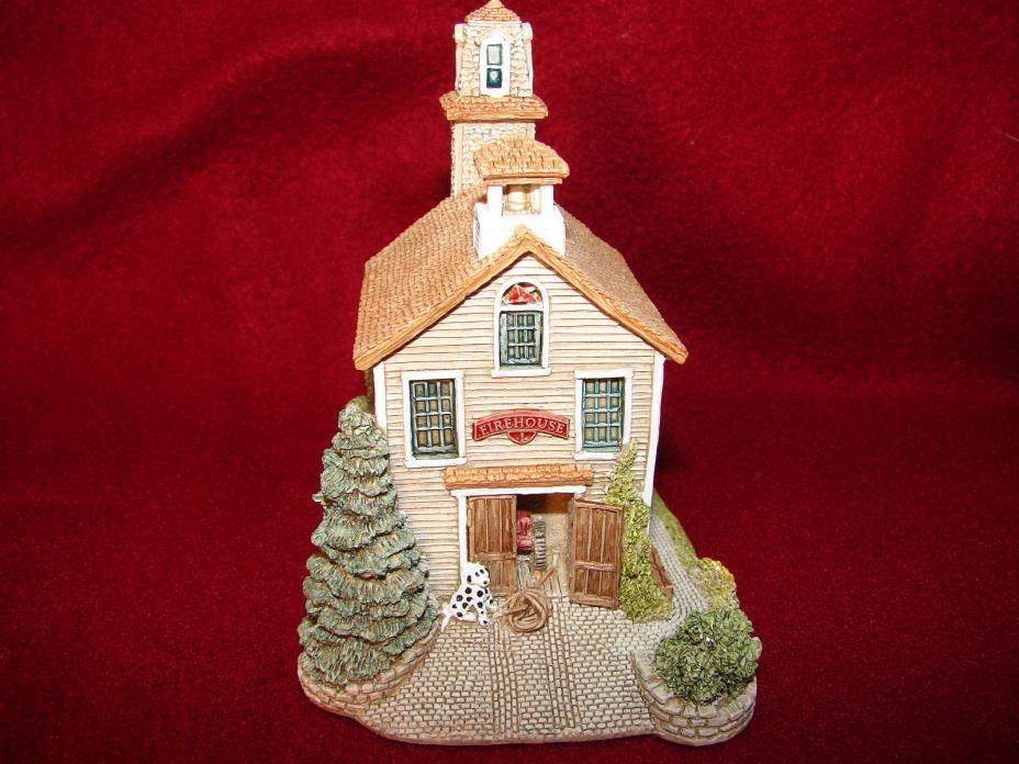 Lilliput Lane Ray Day Americana Firehouse I NIB Signed
