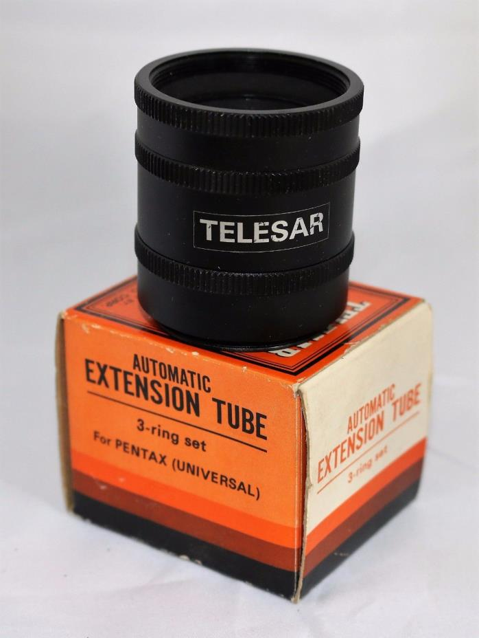 TELESAR Automatic Extension Tube 3-Ring Set for Pentax Universal