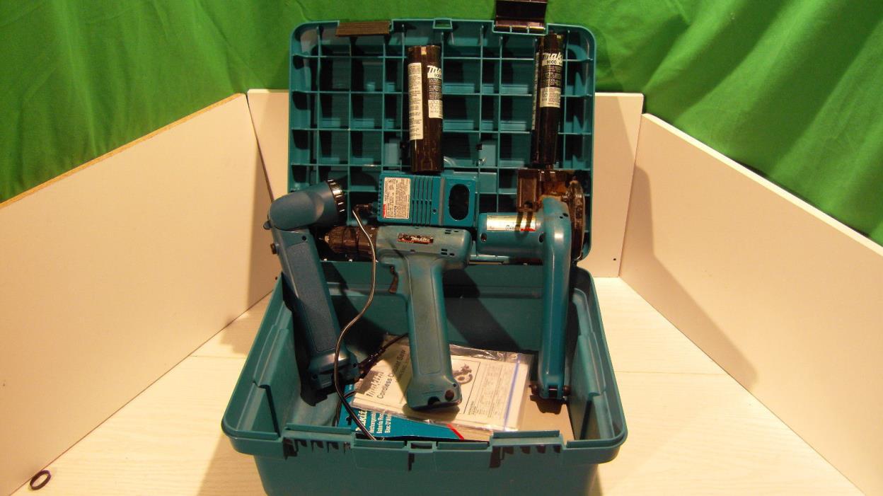 Makita Cordless 9.6V 6095D Drill, ML902 Light Kit, 5090D Saw, DC9700A Charger +