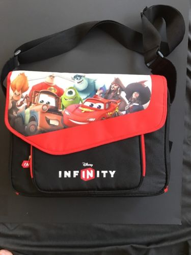 Disney Infinity Play Zone Red Loose Figurine Travel Carrying Case Storage Bag