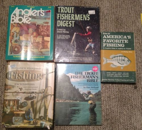 lot of 5 vintage fishing books trout fisherman's bible