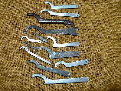 Spanner wrench-lathe tools-machine wrench-pin spanner-tool lot-flat wrench lot