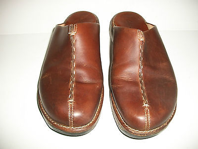 Women's CLARKS Slip On SHOES Brown Leather Sz. 8 M