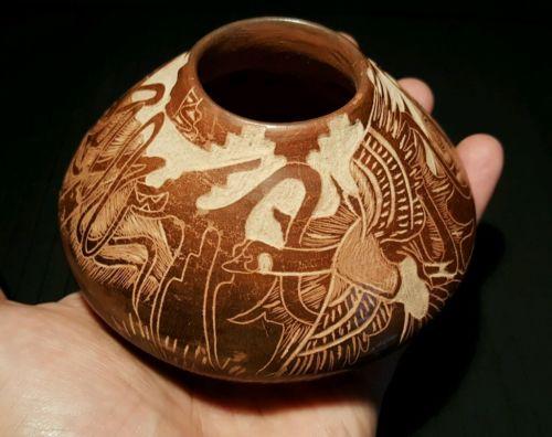 Incredible Paul Naranjo Navajo Pueblo Pottery Vase Santa Clara