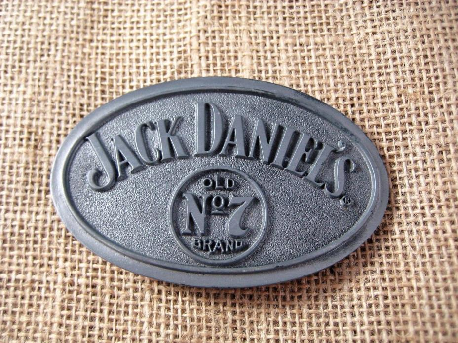 Large Oval BELT BUCKLE JACK DANIELS Classic Old No. 7 Brand Pewter Numbered