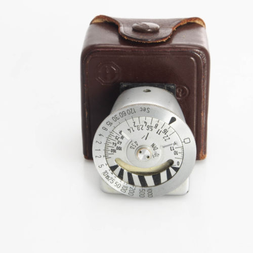 AS IS Leitz / Leica Metraphot 2 Light Meter In Leather Case Does not Meter