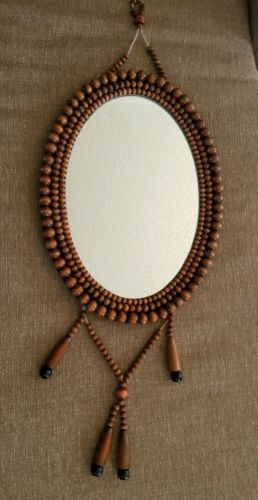 Oval Mirror beaded wall hanging mirror