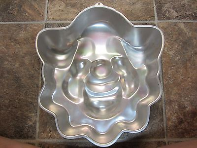 Vintage 1974 Wilton Funny Clown Cake Pan, Smiling Circus Clown Face Bozo