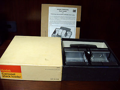 Vintage Kodak Carousel Stack  Loader B40 in Original Box CAT #1514249