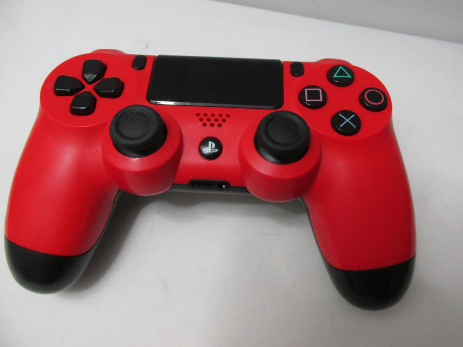 USED Sony PS4 PlayStation 4 DualShock 4 Wireless Controller - Red Lot Y
