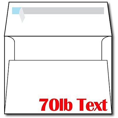 Heayweight Envelopes A7 White Self Seal Invitation Envelopes - 100 Envelopes
