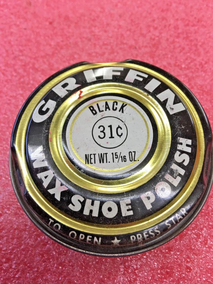 BS8 Vintage Griffin Wax shoe polish tin can 31 cent
