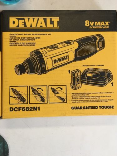 DeWalt DCF682N1 8V MAX Li-Ion Gyroscopic Incline Screwdriver