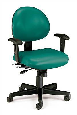 Extended Use Vinyl Computer Task Chair w Arm Rests [ID 376912]