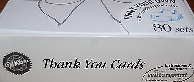 Wilton Thank You Cards