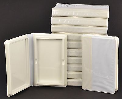 NOS Empty VHS Cases Boxes Replacement White Vinyl Disney Clamshell Lot of 12