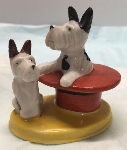 Vintage Scottie Dogs Highland Terrier Figurine Made in Occupied Japan