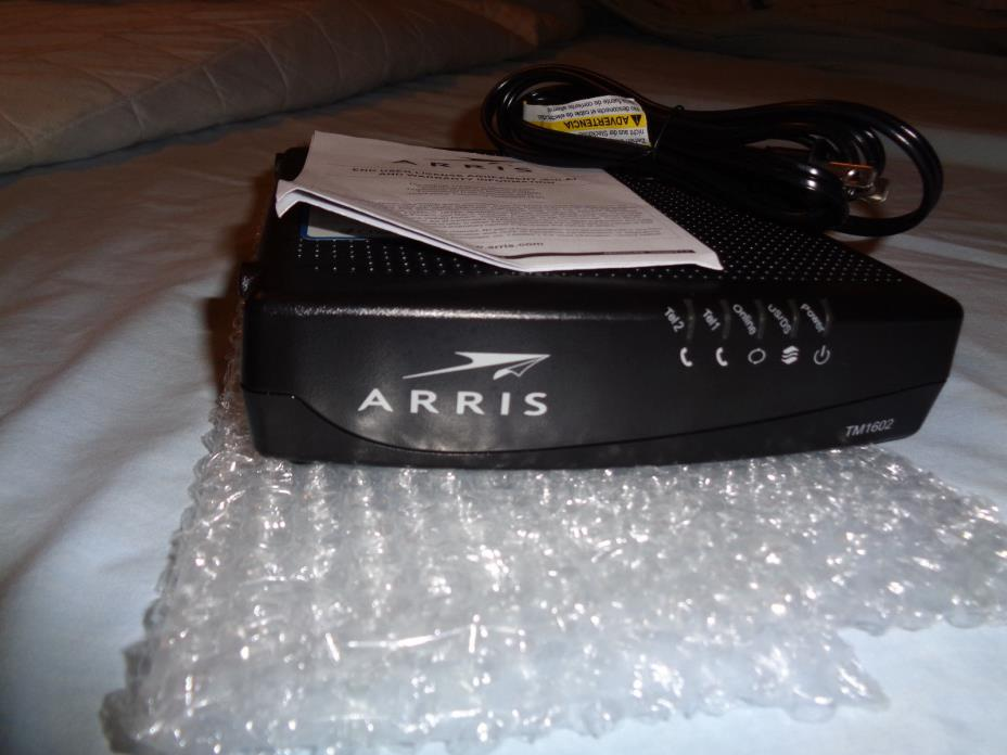 Arris TM1602A Docsis 3.0 Telephony Modem New In box and wrapping