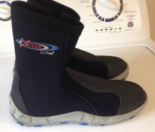 VORTEX NEOPRENE Boots Sz 6 LL BEAN Mens Boys L.L. Black Water Shoes