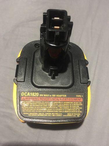 DEWALT DCA1820 Dewalt Battery Adapter for 18V Tools,to 20 V