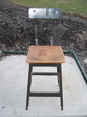 industrial shop stool w/back