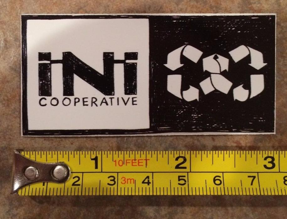 iNi Cooperative Sticker Decal #2A Jacket Pants Cop Bindings Boots Snowboard Mens