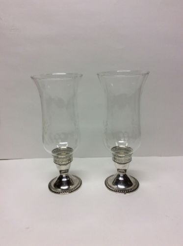 Sterlng Silver Weighted Candle Holders