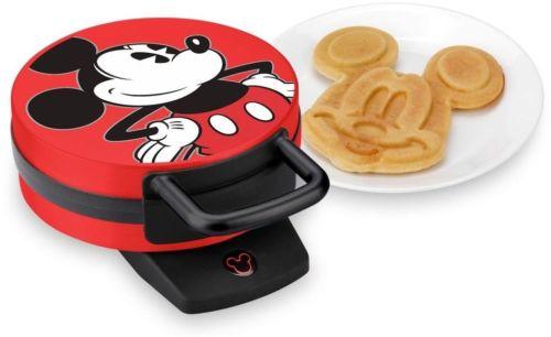 Disney Classic Mickey Mouse Waffle Maker Fun Non-Stick Plates Non-Skid Rubber