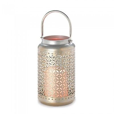 Iron Filligree LED LANTERN