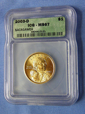 2003-D Sacagawea Dollar Coin ICG MS67 - 4904410121- No. 002